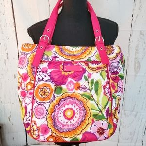 Vera Bradley Large Clementine Puffy Tote